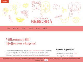 Earlier screenshot of tjejjourenskogsra.se