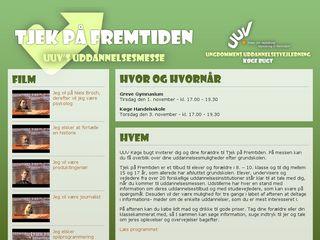 Earlier screenshot of tjekpaafremtiden.dk