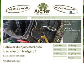 Earlier screenshot of trad-tradgard.se