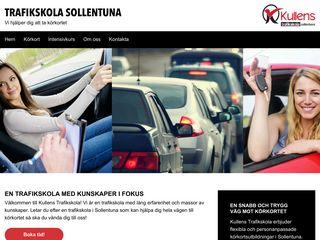 Earlier screenshot of trafikskolasollentuna.nu