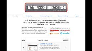 traningsbloggar.info