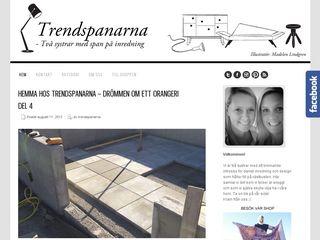Earlier screenshot of trendspanarna.nu