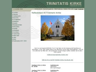 Earlier screenshot of trinitatis-kirke.dk