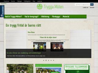 Earlier screenshot of tryggamoten.scout.se