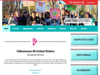 Earlier screenshot of unitedsisters.fryshuset.se