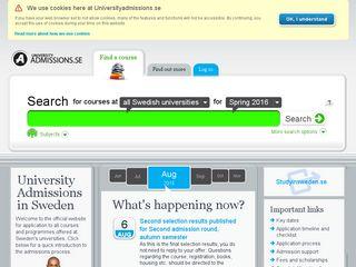 universityadmissions.se