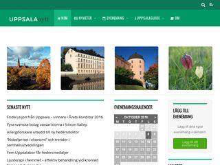 Earlier screenshot of uppsalanytt.se