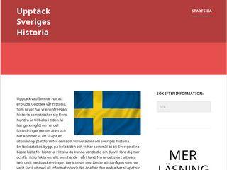 Earlier screenshot of upptacksverigeshistoria.se