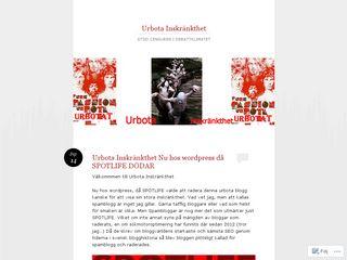 urbotainskrankthet.wordpress.com