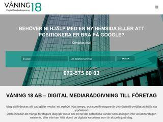 Earlier screenshot of vaning18.se