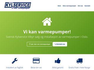 Earlier screenshot of varmepumpeoslo.nu