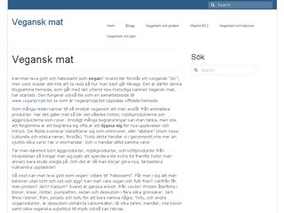 Earlier screenshot of veganskmat.se