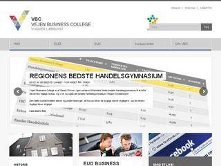 Earlier screenshot of vejenbc.dk