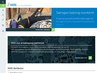 Earlier screenshot of veks.dk