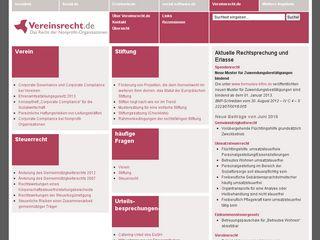 Preview of vereinsrecht.de