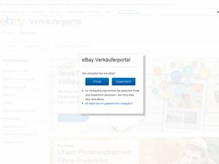 Earlier screenshot of verkaeuferportal.ebay.de