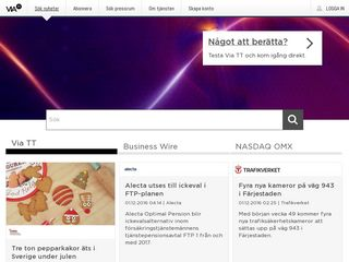Earlier screenshot of via.tt.se