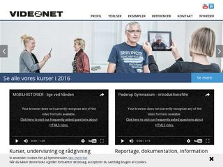 Earlier screenshot of video2net.dk