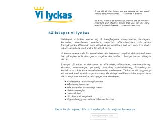 Earlier screenshot of vilyckas.se