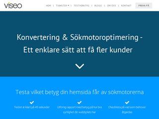 Earlier screenshot of viseo.se