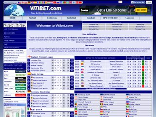 Vitibet betting predictions football welch on a bet
