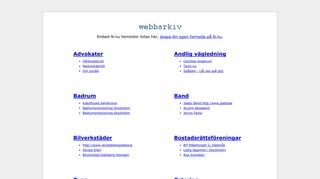 Earlier screenshot of webbarkiv.se
