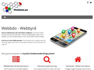 Earlier screenshot of webbdo.se