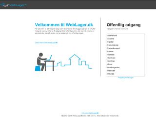 Earlier screenshot of weblager.dk