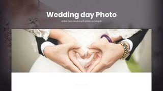 Earlier screenshot of weddingdayphoto.se