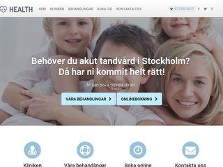 Earlier screenshot of akuttandvårdstockholm.nu