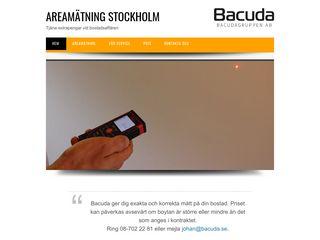 Earlier screenshot of areamätningstockholm.nu