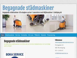 Earlier screenshot of begagnadestädmaskiner.se