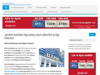Earlier screenshot of bästabanklånet.se