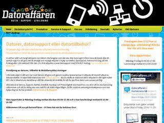 Earlier screenshot of datoraffären.se