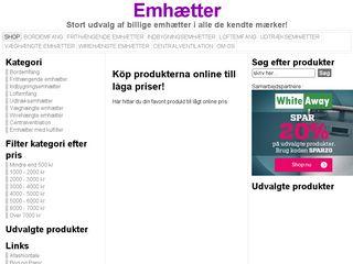Earlier screenshot of emhætter.dk