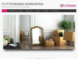 Earlier screenshot of flyttstädningarnorrköping.se