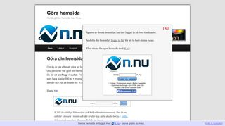 Earlier screenshot of görahemsida.nu