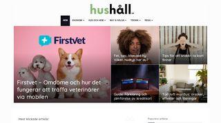 Earlier screenshot of hushåll.se