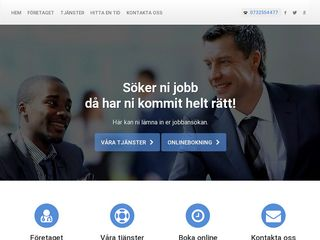 Earlier screenshot of jobbansökan.nu