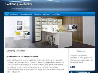 Earlier screenshot of lackeringköksluckor.se