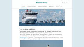 Earlier screenshot of ålandskryssning.nu