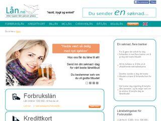 Earlier screenshot of lån.no