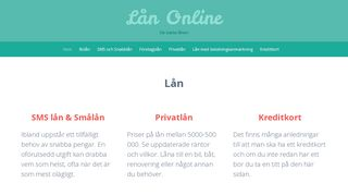 Earlier screenshot of lån.online