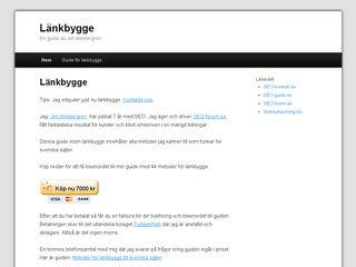 Earlier screenshot of länkbygge.se