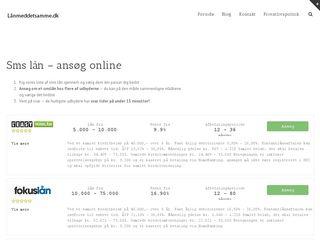 Earlier screenshot of lånmeddetsamme.dk