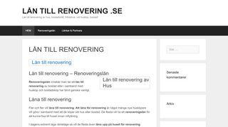 låntillrenovering.se