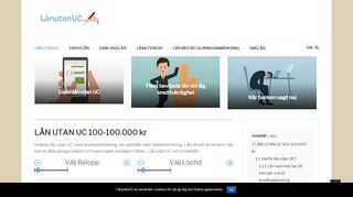 Earlier screenshot of lånutanuc.se