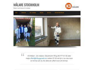 Earlier screenshot of målarenstockholm.se