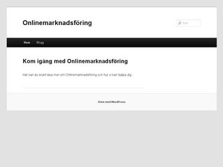 Earlier screenshot of onlinemarknadsföring.se