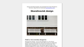Earlier screenshot of smäm.se
